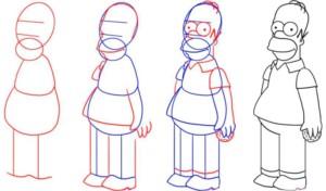 Поэтапный рисунок Симпсона