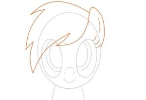 Рисуем ухо и волосы