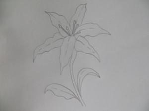 Рисуем стебель и листики