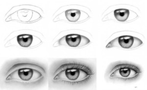 Шаги прорисовки глаза