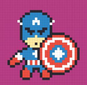 Капитан Америка рисунок в тетради