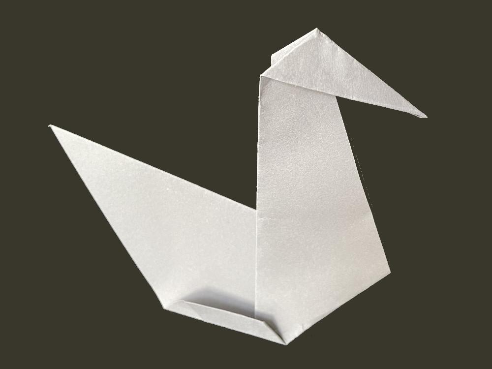 Оригами гусь