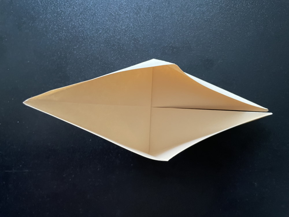 Оригами птица с крыльями