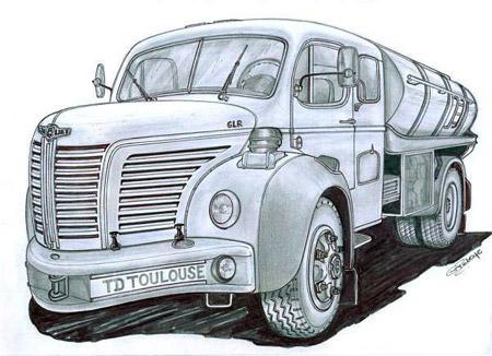 рисунок грузовик