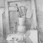 рисунок карандашом натюрморт