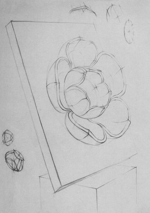 Рисование гипсового орнамента