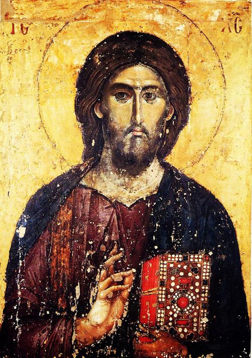 Христос Вседержитель Икона. XVI в.
