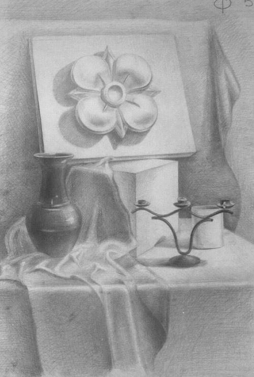 Рисунок вазы амфоры