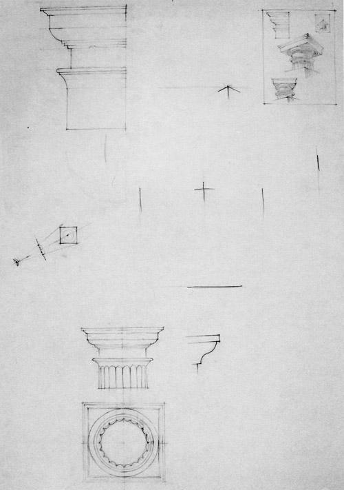 Рисунок колонны, капители