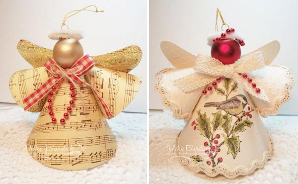 рождественский ангел из бумаги