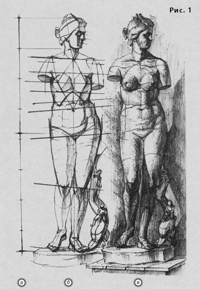 рисунок фигуры женской венера медичи