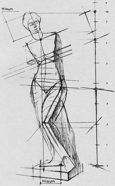 рисунок фигуры женской афродита милосская