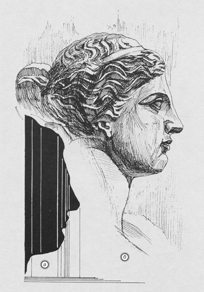 рисунок головы женской афродита милосская